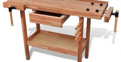 Banco de trabajo de carpintero de madera