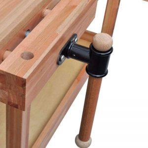 Detalle de banco de trabajo de carpintero de madera barato baratos precio precios comprar